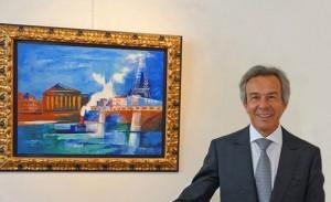 Жак Байи на выставке работ Жана Дюфи в 2014 году