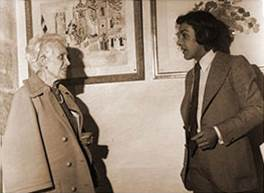 Germaine Dufy and Jacques Bailly in 1975
