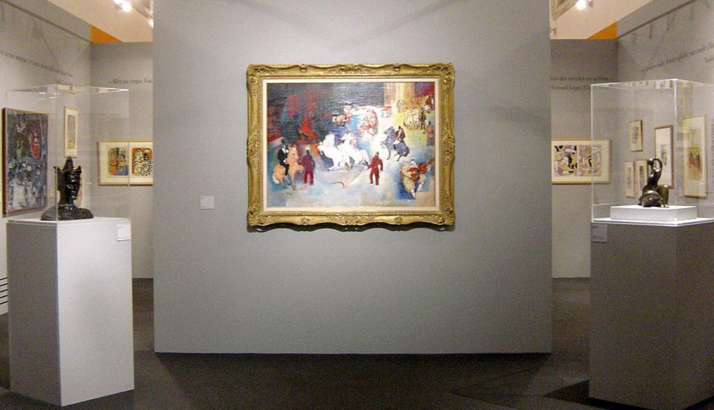 2004年4月9日~7月18日のドゥエのシャルトルーズ美術館(Musée de la Chartreuse)での「Au Cirque, le Peintre et le Saltimbanque」展示会の様子