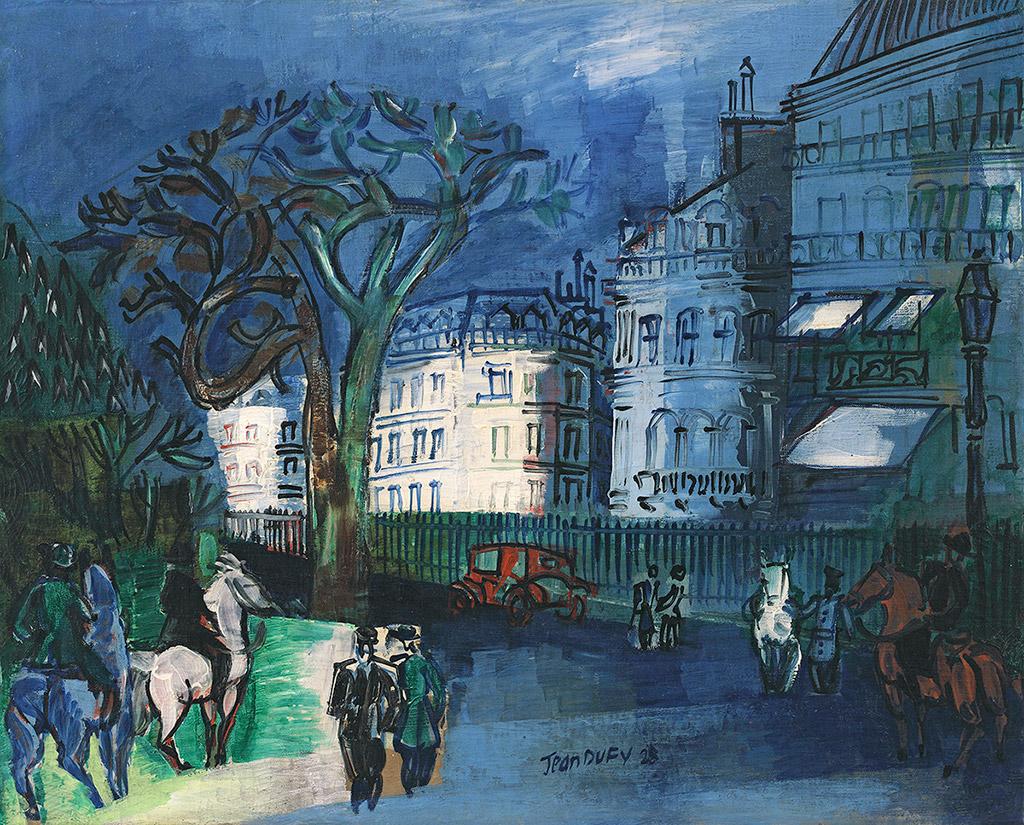 Entrée du bois de Boulogne, 1928