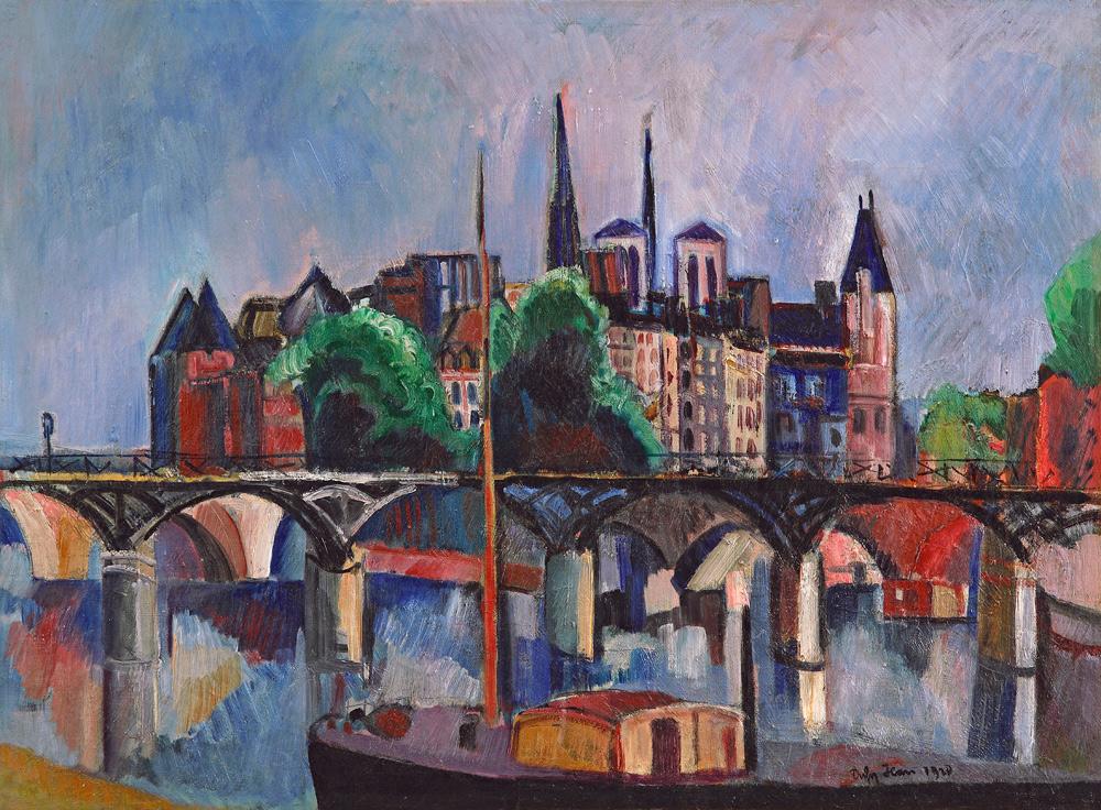 París, el puente de las artes, 1920