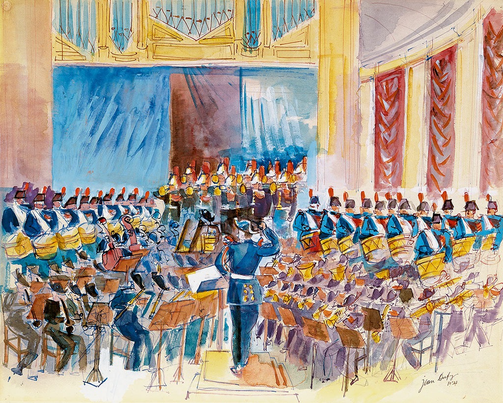 Music of the Republican Guard Conducted by Guillaume Balay at the Théâtre des Champs-Elysées, 1924