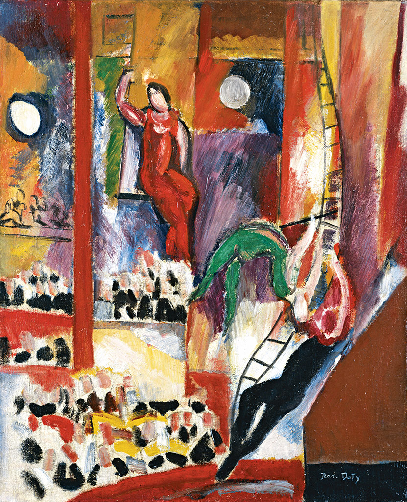 Les trapézistes, 1923-24