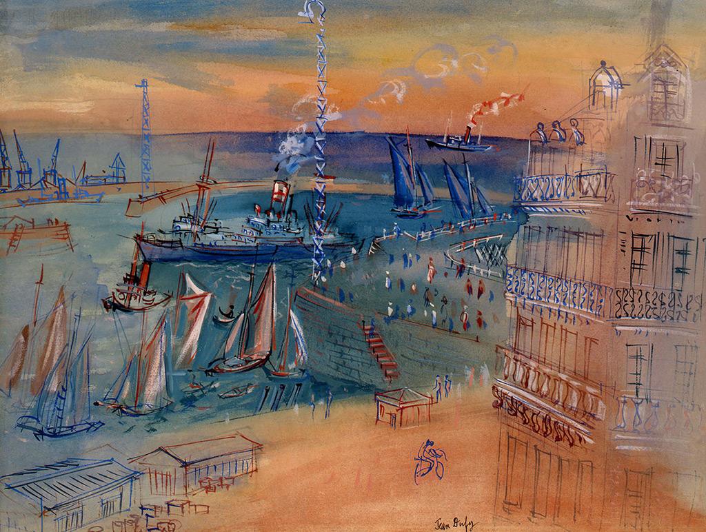 Le Havre, angle chaussée John Kennedy et boulevard François 1er, circa 1940