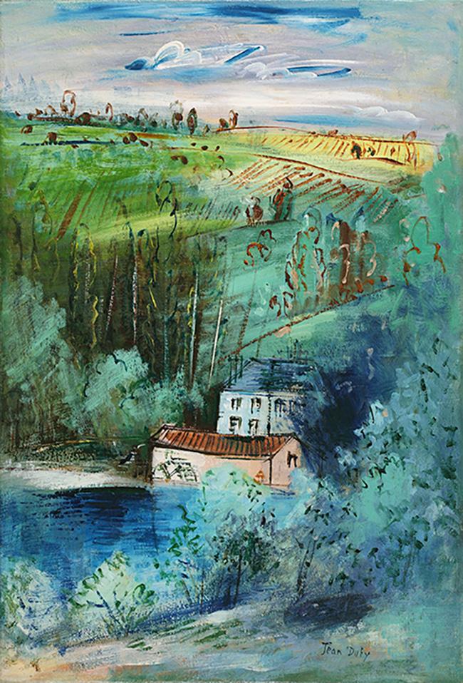 Moulin à aubes dans la vallée de la Gartempe, circa 1930-35