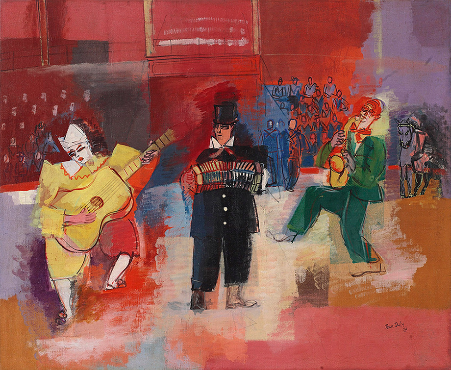 Trio de clowns musiciens, 1927