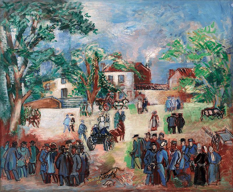 Marché en Limousin, 1929