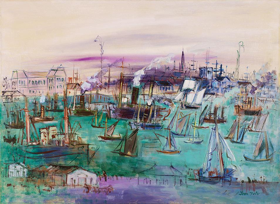 Le Havre, bassin de la Manche vu du quai de Southampton, circa 1935